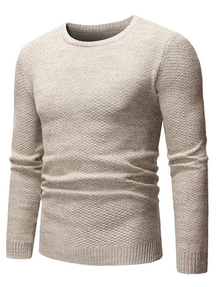 Buy Round Neck Casual Heathered Sweater