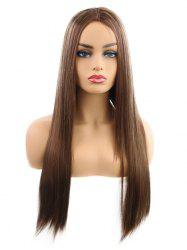 Synthetic Center Part Long Straight Cosplay Wig -