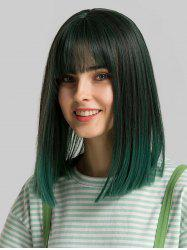 Synthetic Full Bang Straight Shoulder Length Bob Wig -