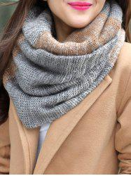 Christmas Colored Striped Knitted Round Scarf -