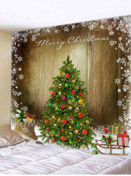 Christmas Tree Wooden Board Print Tapestry Wall Hanging Art Decoration -