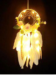 Handmade Flowers Lace Feather Dream Catcher -