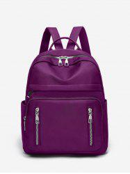Double Zipper Design Big Casual Backpack -