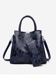 Emboss Rose Pattern Handbag Set -