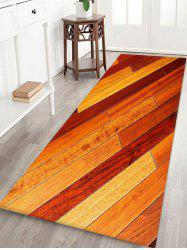 Ombre Wooden Board Pattern Water Absorption Area Rug -