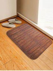Retro Wooden Board Pattern Flannel Water Absorption Area Rug -