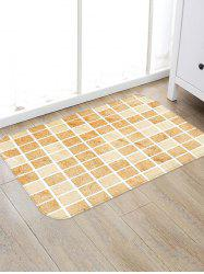 Tile Plaid Pattern Water Absorption Area Rug -