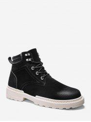 Low Heel Lace Up Cargo Boots -