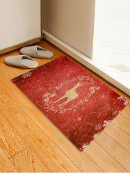 Christmas Snowflake Elk Pattern Water Absorption Area Rug -