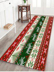 Christmas Deer and Snowflake Pattern Water Absorption Area Rug -