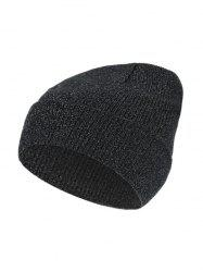 Silver Knitted Winter Elastic Hat -