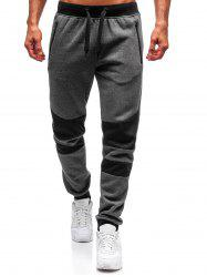 Colorblock Patchwork Spliced Sport Jogger Pants -