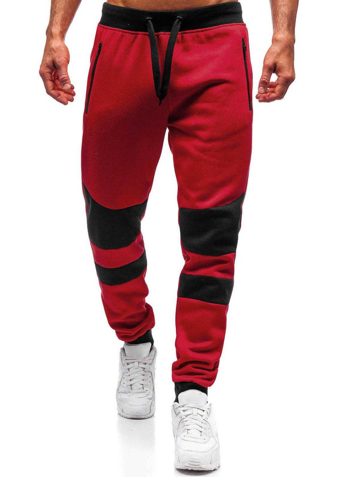 Outfits Colorblock Patchwork Spliced Sport Jogger Pants