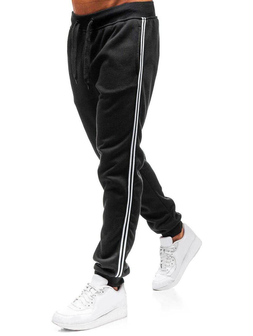 Outfits Contrast Stripe Trim Drawstring Sport Jogger Pants
