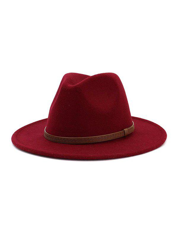 Online Woolen Belt Design Jazz Hat