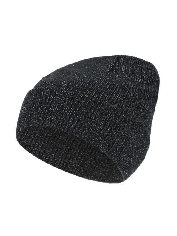 Shop Silver Knitted Winter Elastic Hat