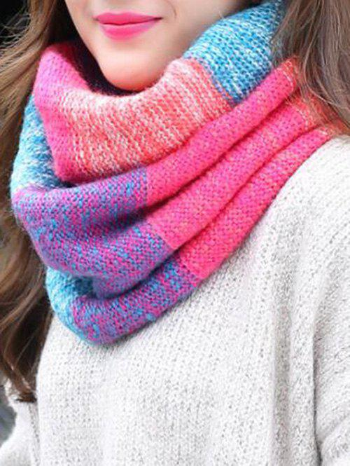 Shops Christmas Colored Striped Knitted Round Scarf