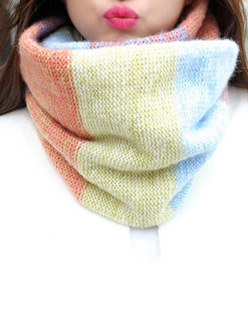 Fashion Christmas Colored Striped Knitted Round Scarf