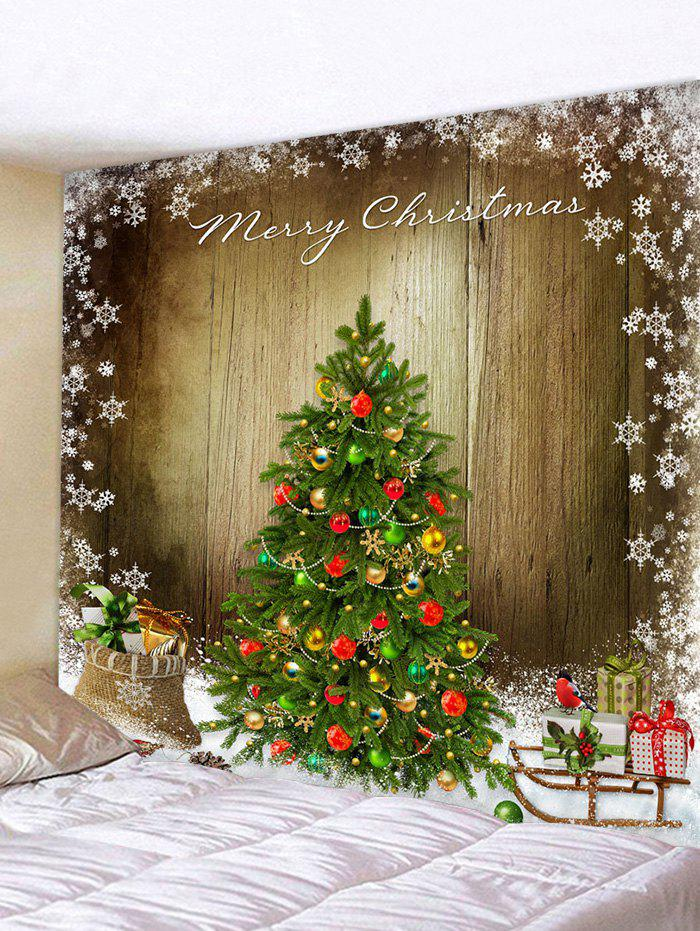 Fashion Christmas Tree Wooden Board Print Tapestry Wall Hanging Art Decoration