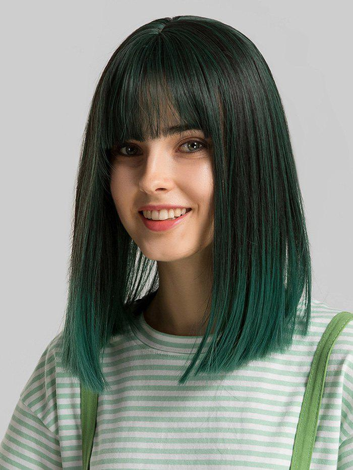 Hot Synthetic Full Bang Straight Shoulder Length Bob Wig