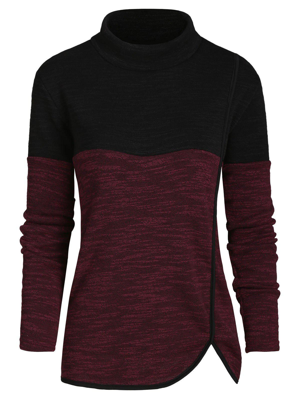 Outfit Mock Neck Heathered Casual Knitwear