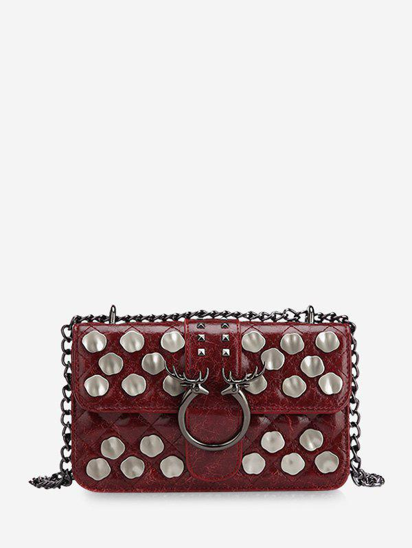 Online Metal Studded Quilted Crossbody Bag