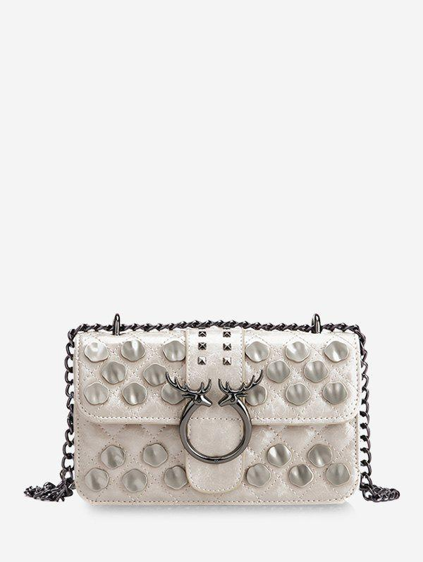 Latest Metal Studded Quilted Crossbody Bag
