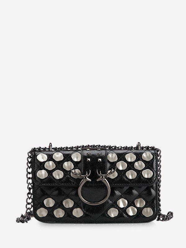 Outfits Metal Studded Quilted Crossbody Bag