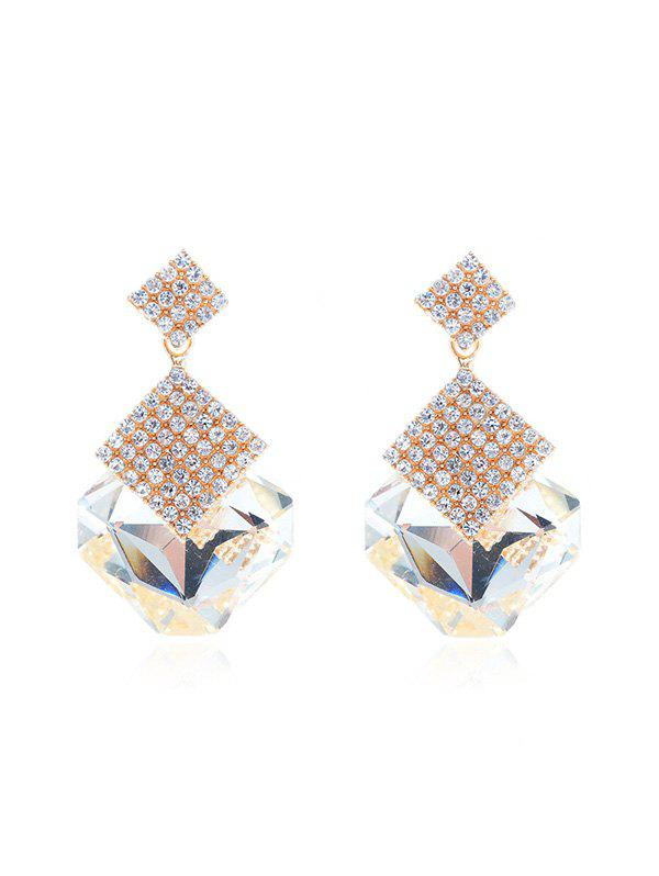 Sale Faux Crystal Rhinestone Geometric Evening Earrings