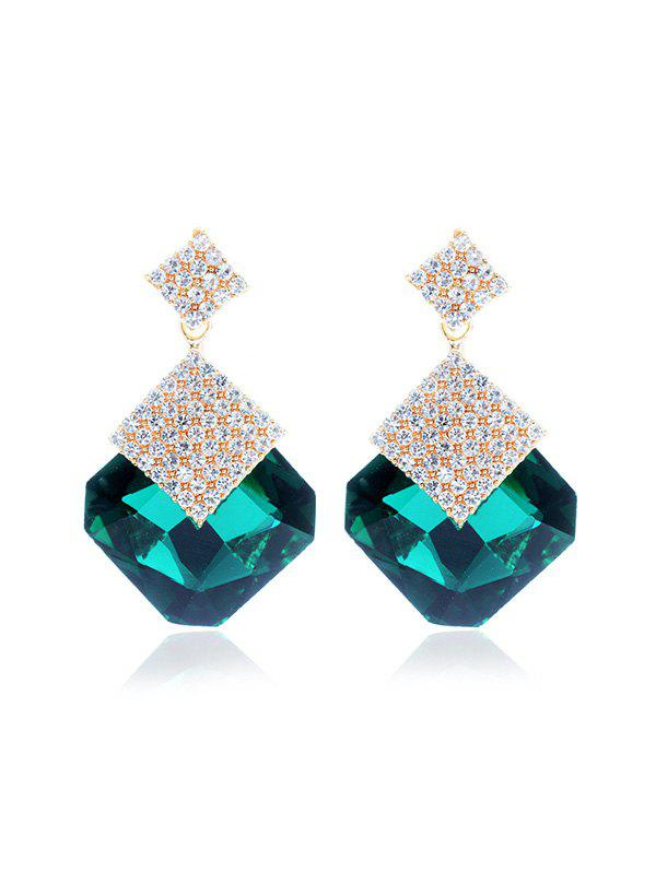 Outfits Faux Crystal Rhinestone Geometric Evening Earrings