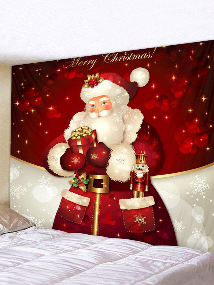 Hot Christmas Santa Claus Gift Print Tapestry Wall Hanging Art Decoration