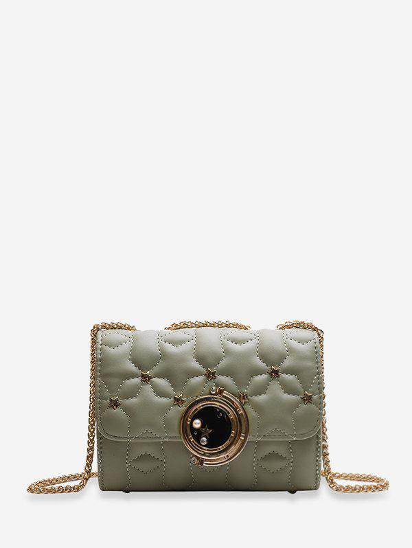 Chic Star Pattern Square Chain Shoulder Bag