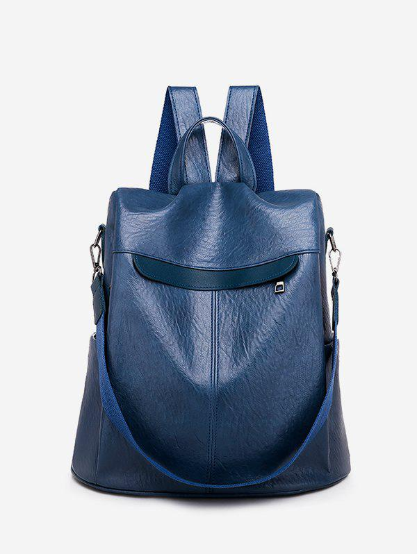 Hot Solid Leather Glossy Big Backpack
