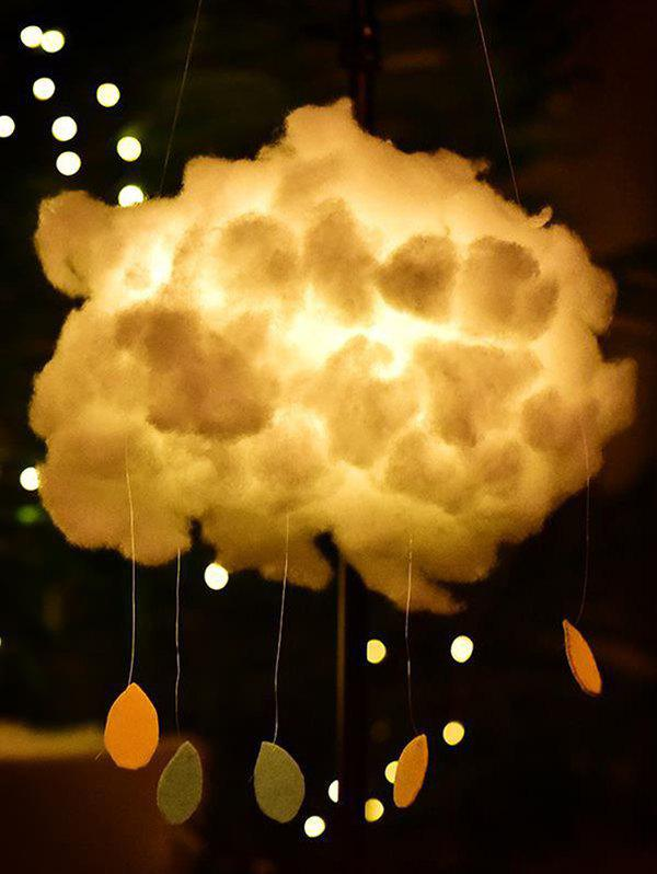 Trendy DIY Cloud And Raindrop Shape Hanging Decoration