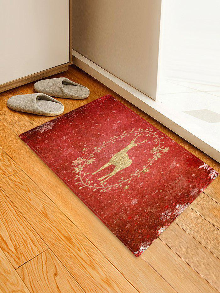 Shop Christmas Snowflake Elk Pattern Water Absorption Area Rug