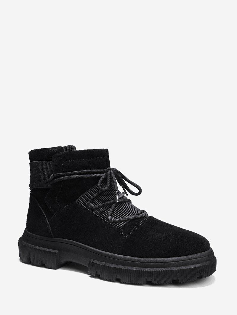 Store Solid Color Faux Suede Cargo Boots