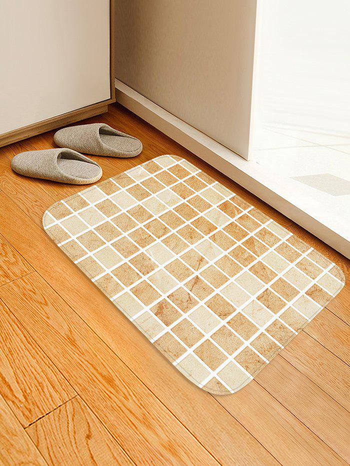 Fancy Tile Plaid Pattern Water Absorption Area Rug
