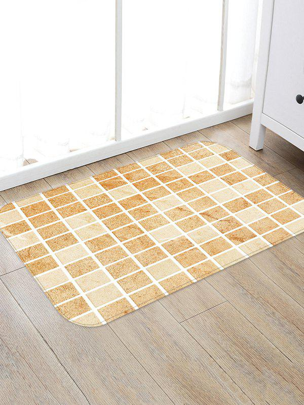 Shop Tile Plaid Pattern Water Absorption Area Rug