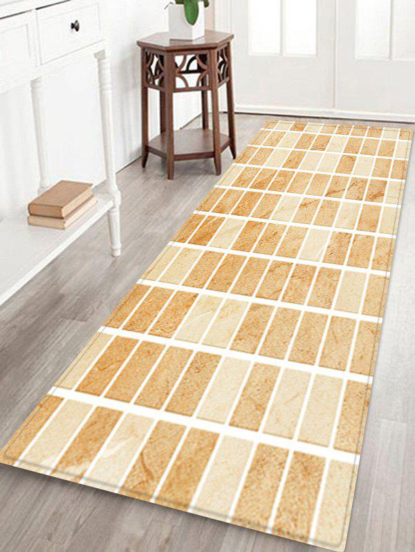 Store Tile Plaid Pattern Water Absorption Area Rug