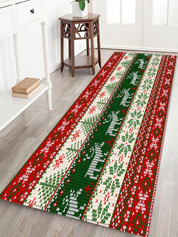 Affordable Christmas Deer and Snowflake Pattern Water Absorption Area Rug