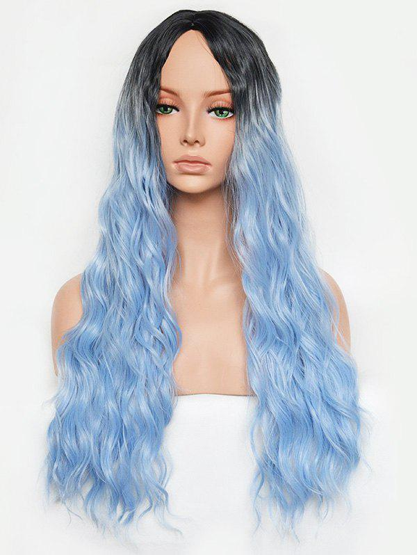 Best Ombre Synthetic Wavy Long Center Part Wig