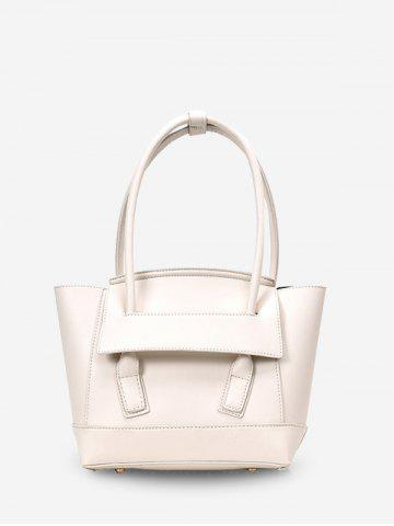 Simple Solid Color Dumpling Shape Handbag