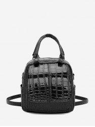 Embossed Glossy Backpack -