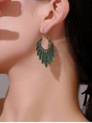 Antique Feather Shape Alloy Drop Earrings -