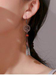 Bohemian Hollow Leaves Tassel Earrings -