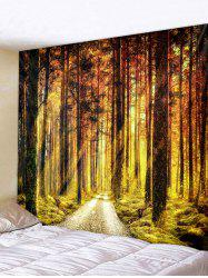 Sunlight Forest Pathway Print Wall Art Tapestry -