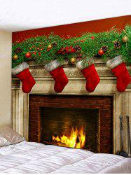 Wall Decor Christmas Pattern Print Tapestry -