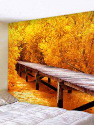 Forest Wood Bridge Scenery Print Wall Art Tapestry -