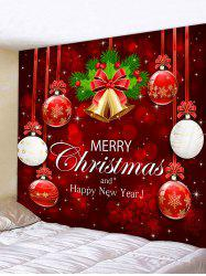 Christmas Snowflake Ball Letter Print Tapestry Wall Decor -