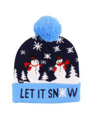 Christmas Tree Snowman Elk Knitted Bobble Hat -